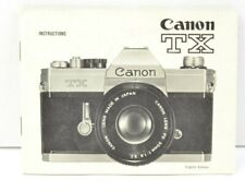 Canon TX Camera Instruction Manual User's Guide AC (425)