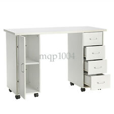 Manicure Nail Table Beauty Salon Station Desk Mobile Drawer Storage Equipment