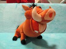 2003 Hasbro Disney's The Lion King - FEED ME PUMBAA LARGE Soft Plush Toy TALKING
