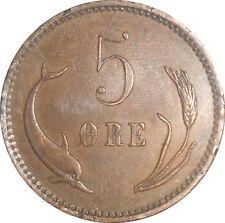 Denmark 5 Ore 1884 CS KM#794.1 - Christian IX (4213) minatge: 321,000