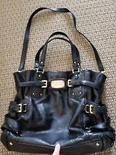 Michael Kors Black Leather Tote Handbag