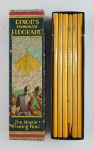 Vintage Dixon's Typhonite Eldorado Master Drawing Pencils 11 Total (Box has Wear