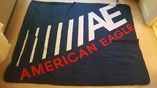 "Red White Blue American Eagle Outfitters Fleece Throw Blanket 48"" x 60"" NWT SOFT"