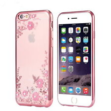 Diamond Flower Crystal Clear Soft Case Cover For iPhone X 8 6s 7 Plus XS Max XR