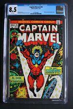 CAPTAIN MARVEL #29 New Cosmic Powers 1973 THANOS SAGA Classic STARLIN-c CGC 8.5