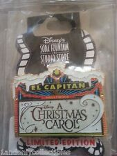 DSF DISNEY SODA FOUNTAIN A CHRISTMAS CAROL  MARQUEE EL CAPITAN PIN LE 150 VHTF