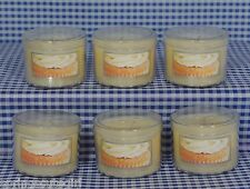 6 Bath & Body Works FROSTED CUPCAKE 1.3 oz Mini Scented Candle