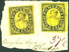 US #117L2+117L1 Pomeroy's Letter Express on piece RARE
