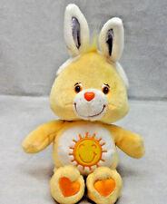"""Care Bears Funshine Easter Bunny Ears Teddy Bear Plush 10"""" 2003 Toy Lovey"""