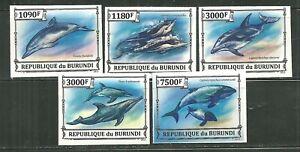 BURUNDI 1090A-D, 1422 MNH DOLPHINS IMPERF