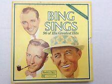 1978 Bing Crosby Bing Sings 96 Of His Greatest Hits 8 Record Box Set vinyl LPs M