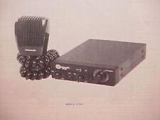 1977 COMMANDO CB RADIO SERVICE SHOP MANUAL MODEL 2340