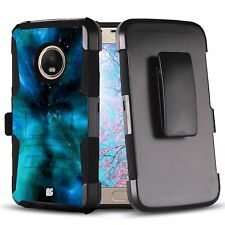 Rugged Shockproof Case w/Stand+Holster Cover for Motorola Moto G5 Plus XT1685