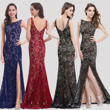 Ever Pretty Maxi Lace Formal Evening Party Gown Long Banquet Black Dress 08859