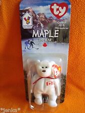 Ty Beanie Babies Maple the Bear ~ McDonald's ~ 1999 ~ Canada ~ Still in package!