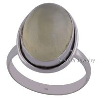 Solid 925 Sterling Silver Prehnite Yellow Ring Jewelry R2787-8 - ANY SIZE