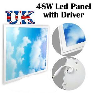 48W Sky Cloud Pattern LED Flat Slim Panel Light Ceiling Lamp 600x600 mm + Driver