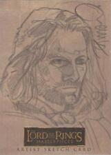 "Lord of the Rings Masterpieces - Rare Dave Dorman ""Aragorn"" Sketch Card"