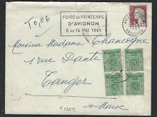 MOROCCO  (P1612B)   1961  POSTAGE DUE  INCOMING LETTER FROM FRANCE