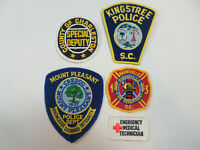 4 SOUTH CAROLINA STATE POLICE DEPARTMENT FIRE DEPT SPECIAL DEPUTY PATCH PATCHES