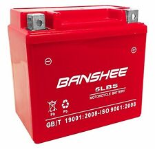 Banshee YTX5L-BS motorcycle battery for Yamaha 250cc WR250F 2008 4 Year Warranty