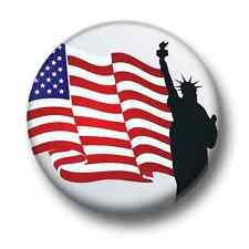 Statue Of Liberty New York 1 Inch / 25mm Pin Button Badge USA America States Fun
