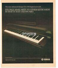 1981 YAMAHA GS 1 FM Digital Keyboard Vtg Print Ad