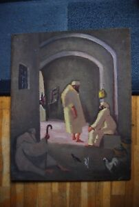 Huile sur panneau en bois Robert DIAZ DE SORIA (1883 - 1971)