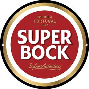 Super Bock Metal Sign, Portugal, Beer, Man Cave, Classic, Bar Decor, 1261
