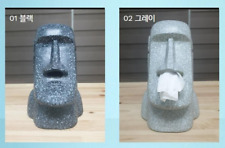 CREATIVE Easter Island MOAI Tissue Box Dispenser Stone Figure Vintage Fun Gift