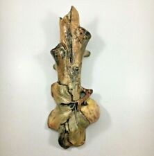 WELLER POTTERY BALDWIN Apple WALL POCKET Woodcraft  Early 1900s Mission-style