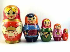 Matroschka puppe Babuschka Matrjoschka Russische holzpuppen Original 5 tlg 14 cm