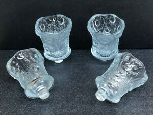 Set Of 4  Crystal Daisy Floral Sunflower PEG Votive Cup Candle Holder