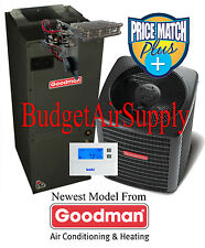 2 ton 15 seer Goodman Heat Pump Multi-Speed GSZ140241+ASPT29B14+Tstat+Heat++