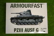 Armourfast Panzer III AUSF G x 2 WWII Tank 1/72 99003