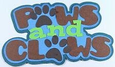 Cat Dog Pet Title Paper Piecing Scrapbook Premade Die cut Pet Puppy Love Kitty