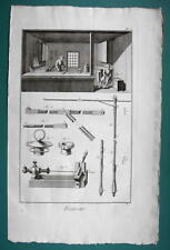 1763 DIDEROT (3) PRINTS - Leather Goods Maker View of Shop Hats Parasol Skins