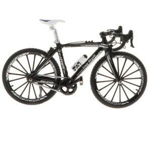 1/10 Handmade Alloy Bicycle Model Racing Cycling Black Bicycle Toy