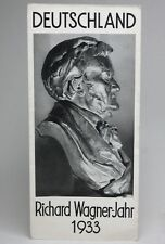 RICHARD WAGNER 1933 Germany - Preliminary Program / Classical Music Brochure