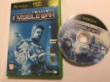ORIGINAL XBOX GAME DEUS EX INVISIBLE WAR +BOXED PAL