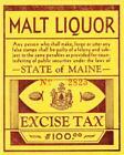 Maine: Beer Tax Stamp, SRS B25, NGAI (39453)