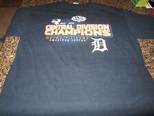 Detroit Tigers T-Shirt - Large - Blue - Central Division Champions - 2011 & 2012