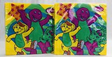 Vintage LOT BARNEY BABY BOP Birthday Lunch Napkins 32x Party Supplies Serviettes