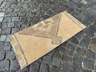 Vintage doormats, Turkish small rug, Hand-knotted wool rug,Carpet | 1,5 x 3,3 ft