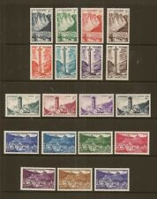 ANDORRA FRENCH 1955-58 LANDSCAPES POSTAGE DEFIN SET OF (19) TO 75F SGF144/62 MNH