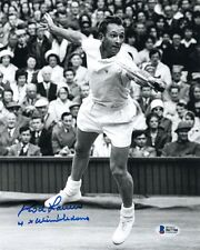 ROD LAVER SIGNED AUTOGRAPHED 8x10 PHOTO WIMBLEDON TENNIS LEGEND BECKETT BAS
