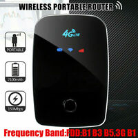 4G LTE WiFi Wireless Portable Router 150Mbps Mobile Broadband Hotspot Black CS