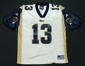 Rare VTG ADIDAS Team Kurt Warner St. Louis Rams Football Jersey 2000s White SZ M