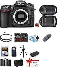 Nikon D7100 Digital SLR Camera Body Kit + 18-140mm & 55-300mm VR Lens 24.1MP USA