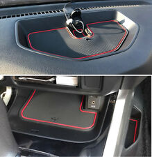 Red Non-slip Inner Gate Slot Mat Cup Pads fit Nissan Navara NP300 D23 2015 2016